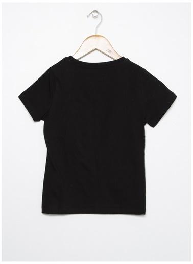 Limon Company Limon Siyah Bisiklet Yaka Yazı Baskılı Erkek Çocuk T-Shirt Siyah
